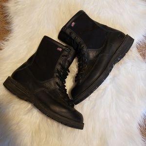 Danner black lace up boots